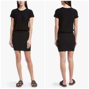 James Perse Short Sleeve Blouson Dress Black